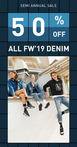 50% Off Semi Annual Sale from A|X Armani Exchange