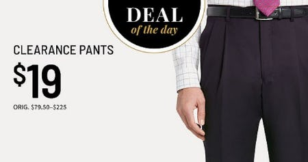 Deal of the Day from Jos. A. Bank