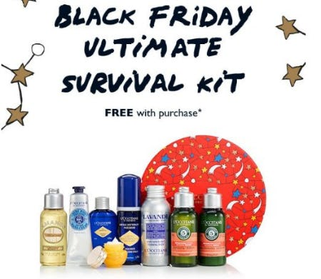 Black Friday Ultimate Survival Kit Free With Purchase from L'Occitane