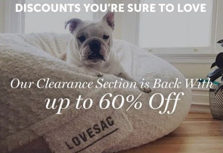 Up to 60% Off Sale from Lovesac