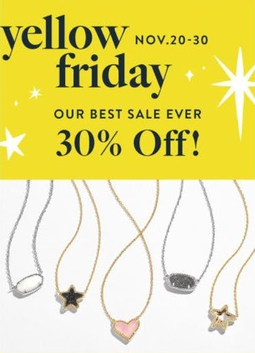 Our Best Sale Ever 30% Off from Kendra Scott
