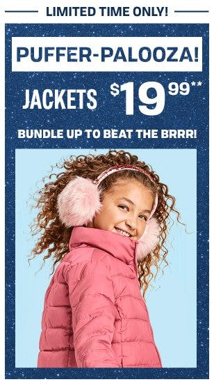 $19.99 Jackets from The Children's Place