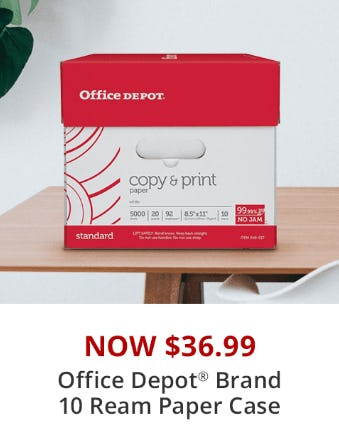 Office Depot Brand 10-Ream Paper Case Now at $36.99 from Office Depot
