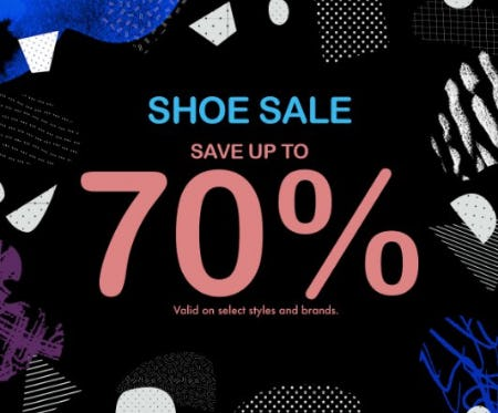 Shoe Sale: Save up to 70%