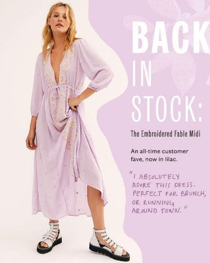 It's Back: The Embroidered Fable Midi from Free People