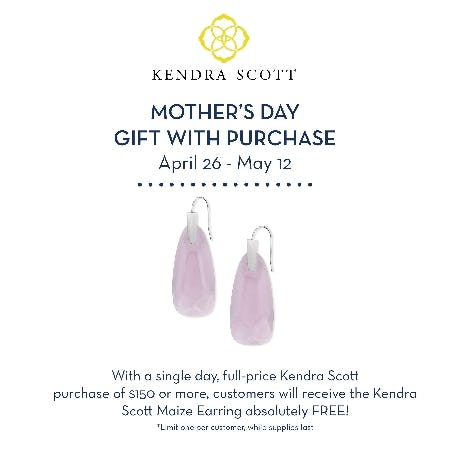 Kendra Scott Gift with Purchase from Von Maur