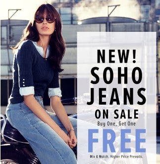 New Soho Jeans on Sale Buy One, Get One Free from New York & Company