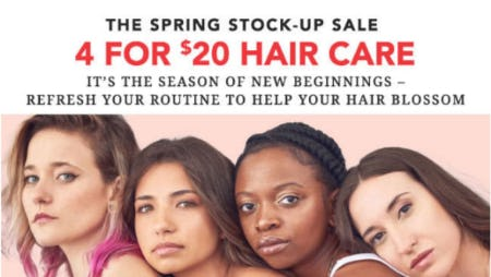 4 for $20 Hair Care