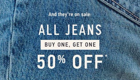 All Jeans BOGO 50% Off