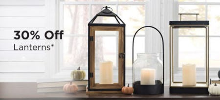30% Off Lanterns from Kirkland's