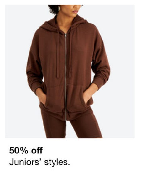 50% Off Juniors' Styles from macy's
