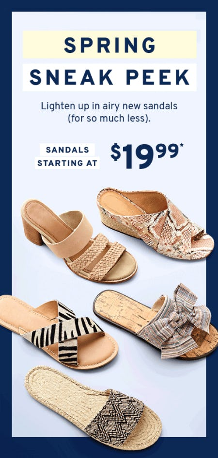 Sandals Starting at $19.99 from Marshalls