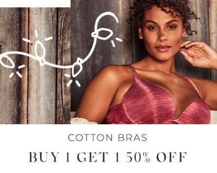 Cotton Bras Buy 1, Get 1 50% Off from Lane Bryant