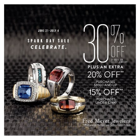 Spark Day Sale from Fred Meyer Jewelers