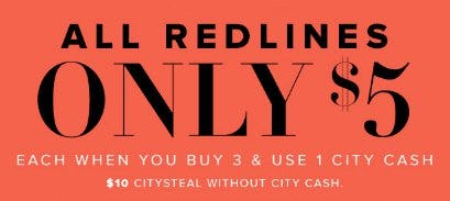 All Redlines Only $5