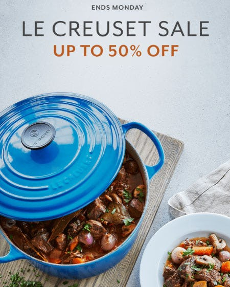 Up to 50% Off Le Creuset Sale