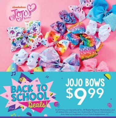 JoJo Bows $9.99 from Claire's