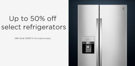 Up to 50% Off Select Refrigerators from Sears