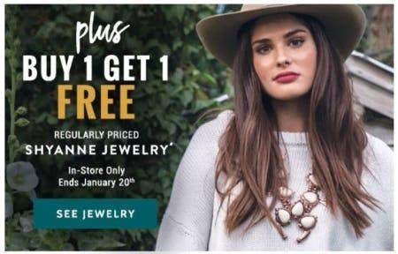 B1G1 Free Regular Priced Shyanne Jewelry