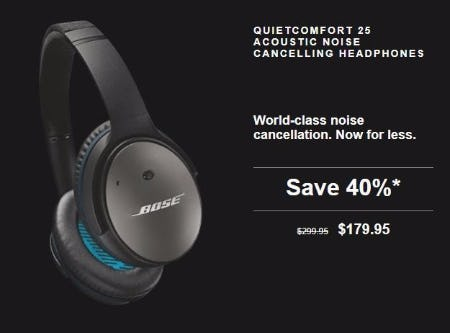 40% Off QuietComfort 25 Acoustic Noise Cancelling Headphones