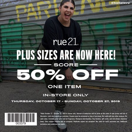 50% off one item! from rue21