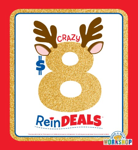 Crazy $8 ReinDEALS Are Back at Build-A-Bear Workshop!® from Build-A-Bear Workshop