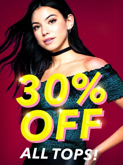 30% Off All Tops