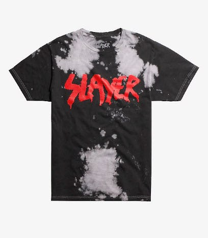 Slayer Logo Bleach Wash T-Shirt from Hot Topic