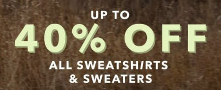 Up to 40% Off All Sweatshirts & Sweaters from Aerie