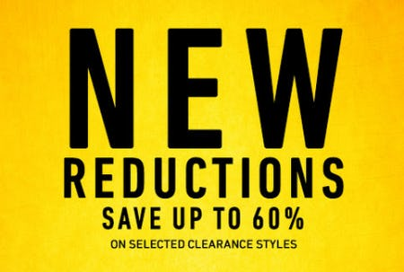 Save Up to 60% on Selected Clearance Styles
