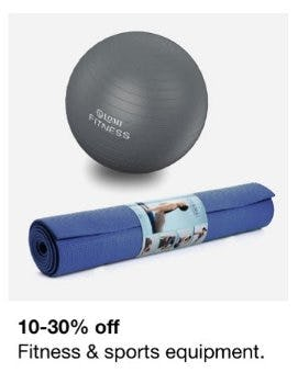 10-30% Off Fitness & Sports Equipment