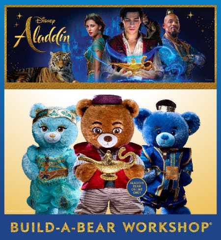 Journey Beyond the Palace Gates with the Disney Aladdin Collection at Build-A-Bear Workshop! from Build-A-Bear Workshop