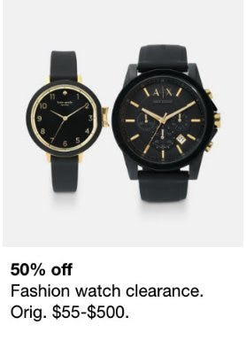 50% Off Fashion Watch Clearance from macy's