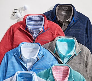 The Striped Sankaty 1/2-Zip from vineyard vines