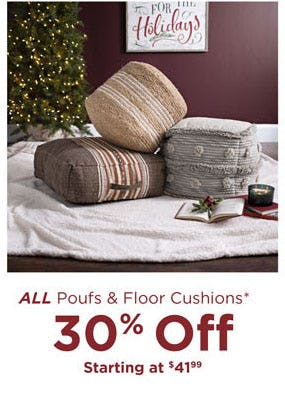 30% Off All Poufs & Floor Cushions from Kirkland's Home