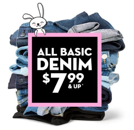 All Basic Denim $7.99 & Up from The Children's Place