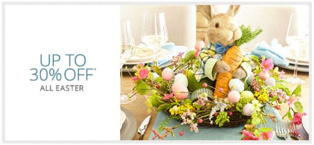 Up to 30% Off All Easter from Pier 1 Imports