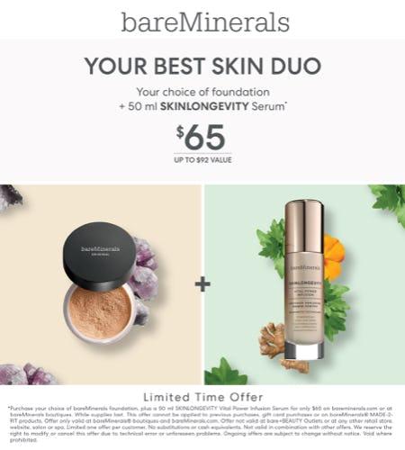 Foundation & Skinlongevity 50ml Bundle for $65