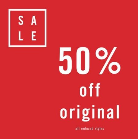 50% Off the Original Price from ALDO Shoes