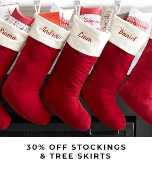 30% Off Stockings & Tree Skirts from Pottery Barn