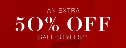 Extra 50% Off Sale Styles from BCBGMAXAZRIA
