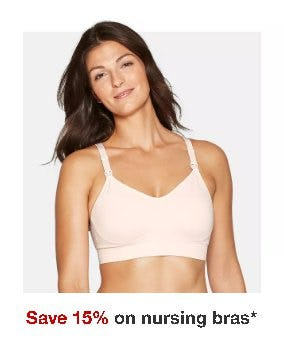 Save 15% on Nursing Bras from Target