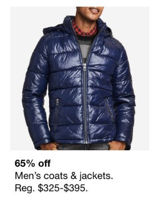 65% Off Men's Coats and Jackets from macy's