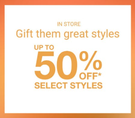 Up to 50% Off Select Styles from sunglass hut