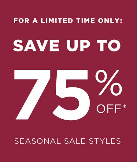 Save Up to 75% Off on Seasonal Sale Styles from Marmi