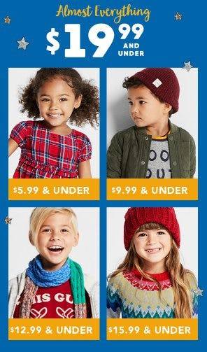 Almost Everything $19.99 and Under from Gymboree
