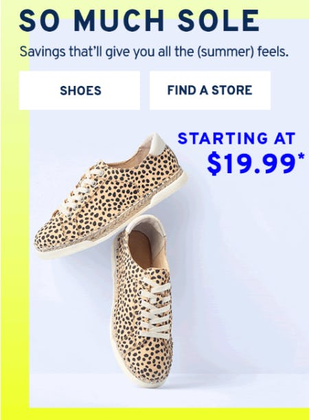 Shoes Starting at $19.99 from Marshalls