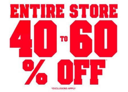 Entire Store 40-60% Off from The Children's Place