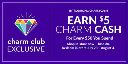 Earn $5 Charm Cash from Charming Charlie