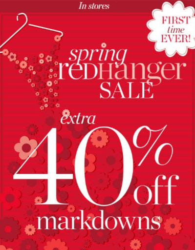 Extra 40% Off Spring Red Hanger Sale from Talbots